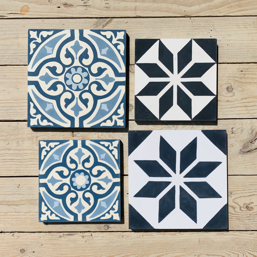 other sizes Cement tiles size 16,7 x 16,7 cm