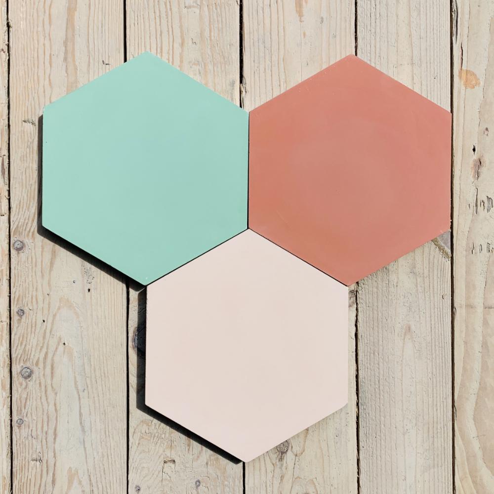 other sizes Uni color hexagonal cement tiles