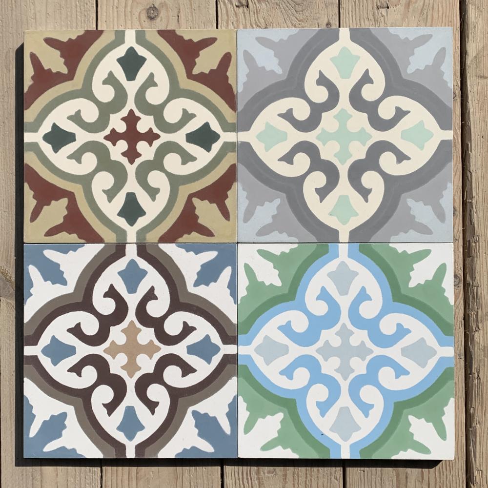 Cement tiles motif