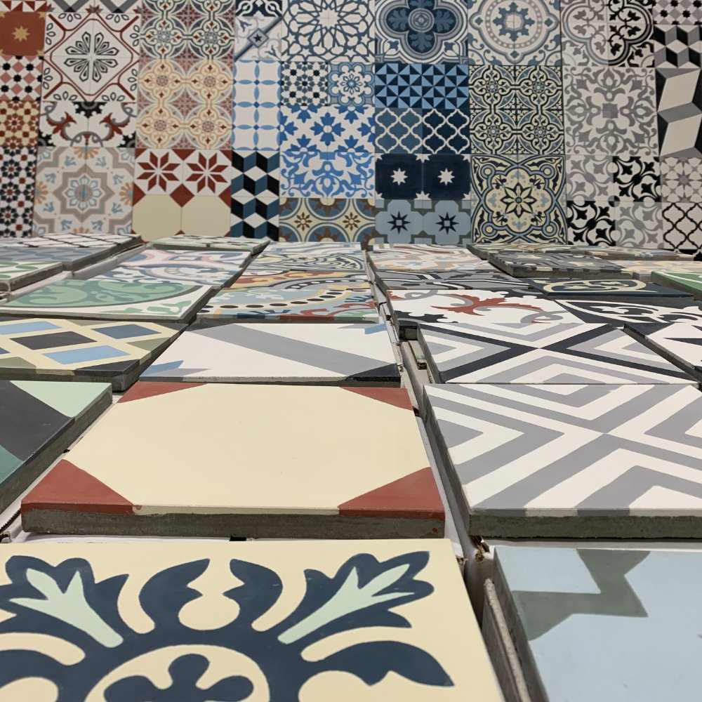 Cement tiles collections