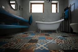 Encaustic cement tiles Patchwork color