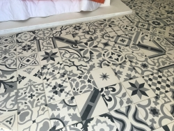 moroccan cement tiles Patchwork black white grey