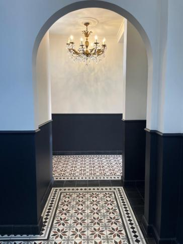 articima cement tiles 410 | customised to the room colour.
