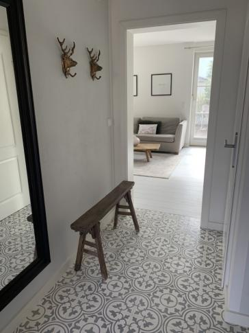 Our cement tiles 2802 | White, Grey