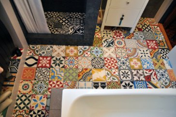 cement tiles patchwork | bath - pic 001