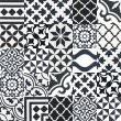 articima cement tiles black and white