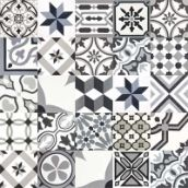 articima cement tiles black and gray