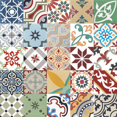 cement tiles patchwork